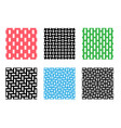 set of seamless pixel pattern on white vector image vector image