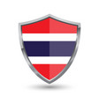 shield with flag of thailand isolated on white bac vector image vector image