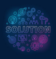 solution round outline colored vector image vector image