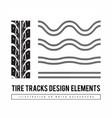 tire tracks set design elements vector image vector image