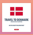 travel to denmark discover and explore new vector image vector image