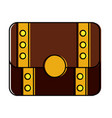 treasure chest closed icon imag vector image