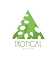 tropical logo design triangle badge vector image vector image