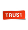 trust square sticker on white vector image vector image