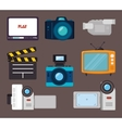 Videos and entertainment vector image