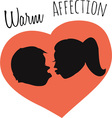Warm Affection vector image vector image