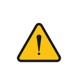 warning icon graphic design template vector image
