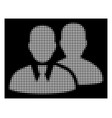 white halftone users icon vector image