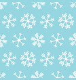 white snowflakes winter seamless pattern vector image vector image