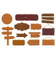 wooden boards rustic wooden signboard empty vector image vector image