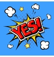 yes comic book explosion vector image