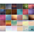 Big Set Of Soft Colored Abstract Background vector image