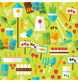 Flat Design Nature Gardening and Environment Green vector image