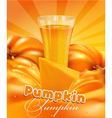 pumpkin and a glass of pumpkin juice vector image
