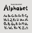 Alphabet Individual hand-drawing characters vector image