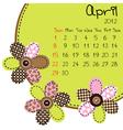 2012 april calendar vector image vector image
