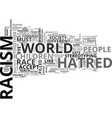 a new approach to an old problem racism text word vector image vector image