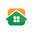 abstract house icon logo image vector image vector image