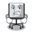angry presentation board cartoon on the floor vector image vector image