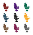 armchairbarbershop single icon in black style vector image vector image