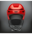 Background of Classic red Ice Hockey Helmet vector image vector image