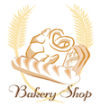 Bakery shop concept art vector image