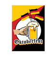 beer fest greetings with little germany flag pop vector image
