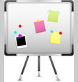 Board With Notice And Magnet vector image