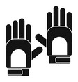 camp gloves icon simple style vector image vector image