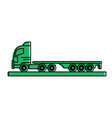 cargo truck icon image design vector image vector image
