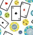 casino elements pattern vector image