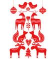 christmas scandinavian elements vector image vector image
