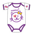 clothes for newborn girl with cute kawaii cat vector image vector image