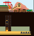 coal mine of mining in the section vector image