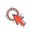 computer mouse cursor icon in comic style arrow vector image vector image