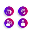 creative idea teamwork and clapping hands icons vector image vector image