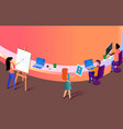 creative people making work at office workplace vector image