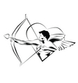cupid illustration vector image vector image