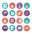 Customer Care and Commerce Icons vector image vector image