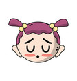 cute baby girl head with hairstyle design vector image vector image