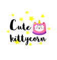 cute cartoon doodle cat vector image