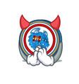 devil dragonchain coin mascot cartoon vector image vector image