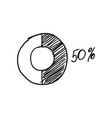 doodle pie chart vector image
