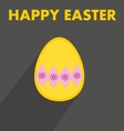 Flat easter egg with wishes on dark background vector image vector image