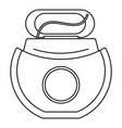 floss open box icon outline style vector image vector image