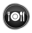 Fork spoon and plate icon vector image
