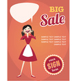 Girl or woman on shopping sale Retro style sale vector image