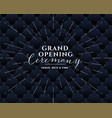 grand opening black banner design vector image vector image
