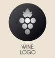 grapes logo design element vector image vector image