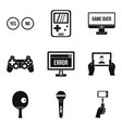 graphic information icons set simple style vector image vector image